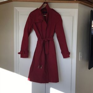 Beautiful red Kenneth Cole trench coat